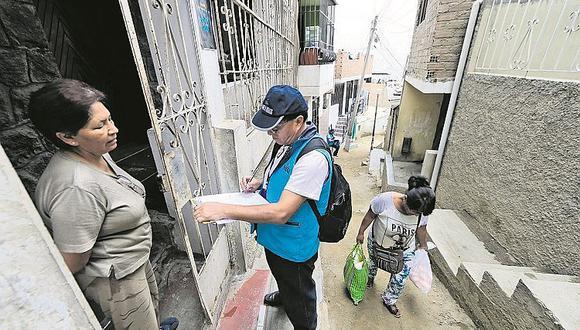 Censo Nacional: revelan el pago que dará el INEI a cada empadronador