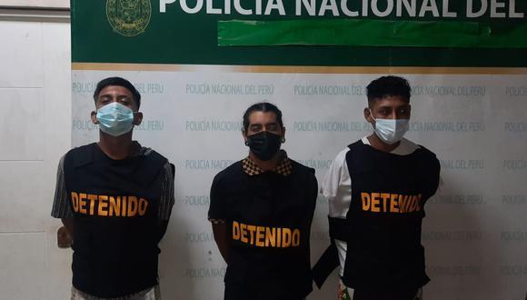 Los tres presuntos delincuentes detenidos fueron reconocidos por el agraviado.