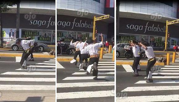 Fiestas Patrias: bailan huayno de forma espectacular en plena calle (VIDEO)