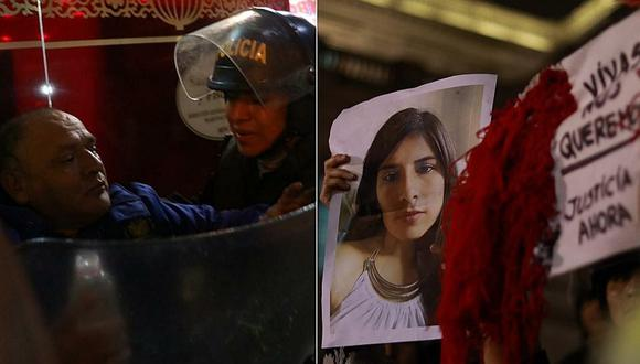 Hombre causa alboroto en protesta por la muerte de Eyvi Ágreda (FOTO)