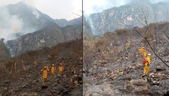 Apagan incendio forestal que duró dos días en Santuario Histórico de Machu Picchu (Foto: Sernanp)