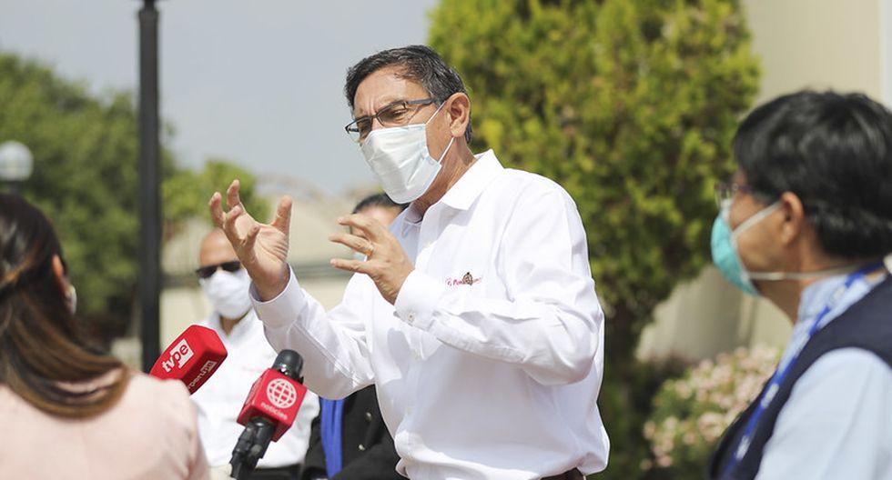Martín Vizcarra dio negativo para la prueba de coronavirus a la que se sometió este lunes. (Foto: Presidencia)