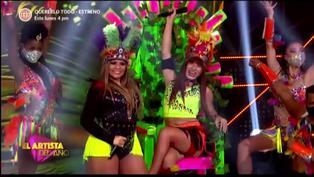 """El Artista del Año: La Uchulú y Ruth Karina deslumbraron al jurado bailando """"Sangre caliente"""""""
