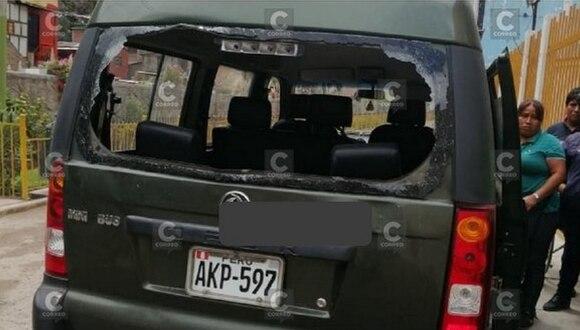 Señora muere al caerle una piedra cuando viajaba en miniván (FOTOS)
