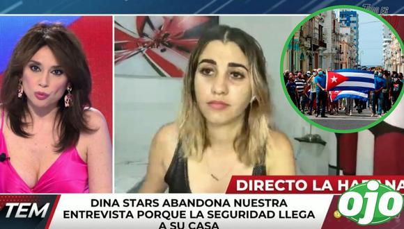 Dina Stars fue detenida en vivo por la dictadura cubana. Foto: (redes sociales).