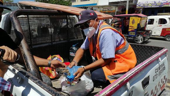Piura: decomisan gran cantidad de pirotécnicos que se vendían de manera clandestina en Talara (Foto: Municipalidad Talara)