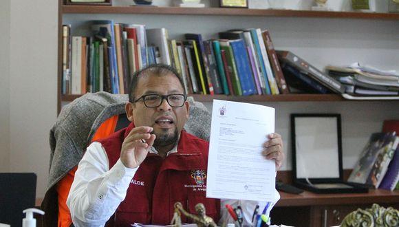 Arequipa: alcalde provincial Omar Candia dio positivo a prueba de COVID-19 y cumple con aislamiento obligatorio.