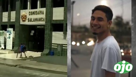 """En un video difundido por América Noticias se escucha cuando el joven dentro del patrullero le reclama a los policías el disparo. """"He estado corriendo. Le dije voy a traer mi DNI. Vivimos acá a la vuelta. Me ha disparado"""". Foto: captura de pantalla"""