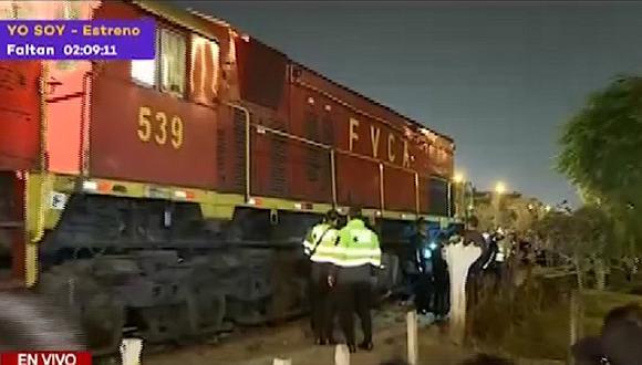 Mujer muere atropellada por tren al salvar a embarazada en el Cercado de Lima (VIDEO)