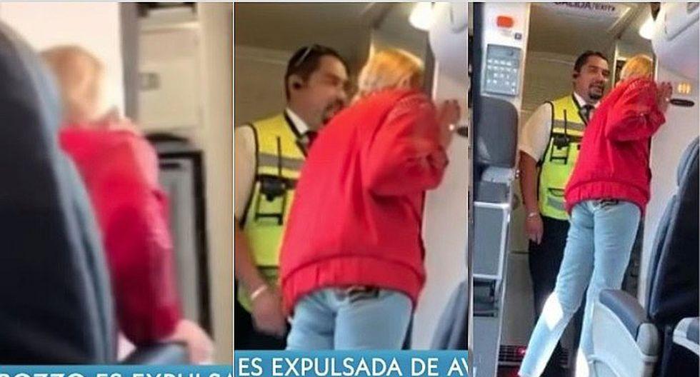 Laura Bozzo es expulsada de avión luego de armar escándalo por una maleta (VÍDEO)