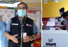 Óscar Ugarte: Miembros de mesa no podrán ser vacunados contra coronavirus antes de segunda vuelta