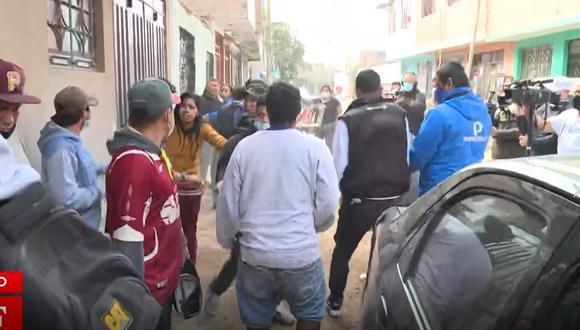 asesinato en Los Olivos (Captura: América Noticias)