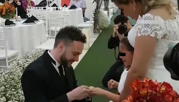 YouTube: Recién casado hace la propuesta más tierna del mundo a hija de su esposa