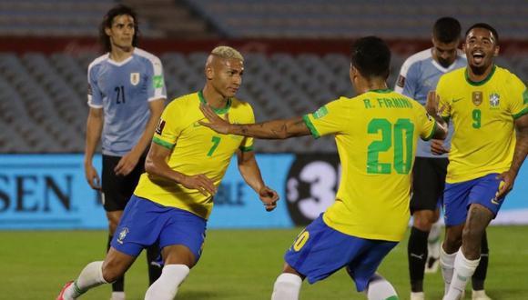 Brasil venció 2-0 a Uruguay en Montevideo por las Eliminatorias rumbo a Qatar 2022. (Foto: Agencias)