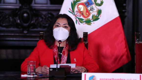 La titular de la PCM, Violeta Bermúdez, aseguró la adquisición de 80 millones de vacunas contra la COVID-19.  | Foto: PCM