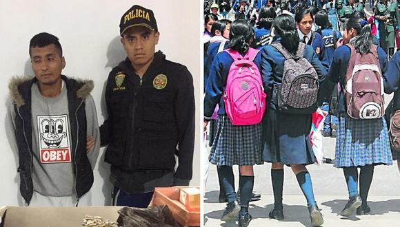 Sujeto vendía droga frente a colegio en San Juan de Lurigancho