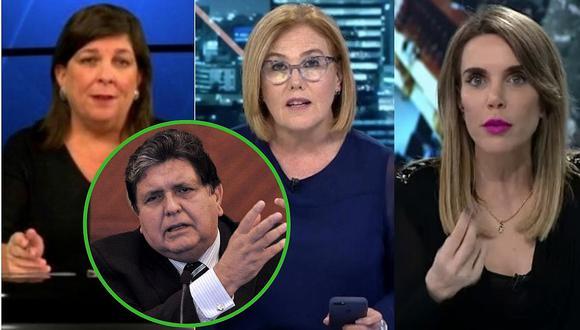 Mónica Delta, Rosa María Palacios y Juliana Oxenford se pronuncian sobre el fallecimiento de Alan García