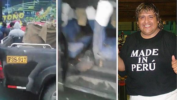 Bus de Toño Centella choca con combi y salvan de morir en plena carretera (VÍDEO)