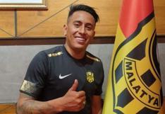 Christian Cueva obtendrá perdón de Yeni Malatyaspor tras ser apartado del grupo