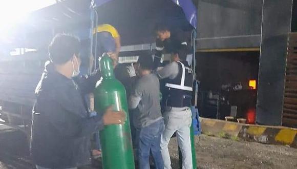Loreto: región recibe 119 balones de oxígeno para pacientes COVID-19 (Foto: Gore Loreto)