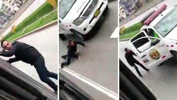 Nuevo video muestra a extranjero lanzándose de bus del Metropolitano tras robar (VIDEO)
