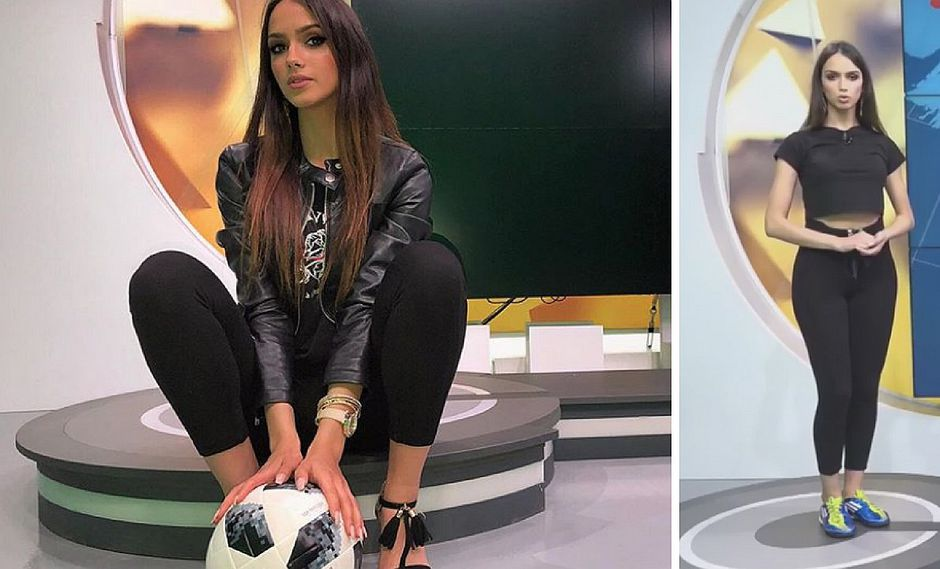 Presentadora de TV se vuelve famosa por su increíble habilidad con el balón (VIDEO)