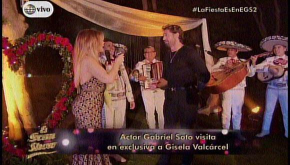El Gran Show: Gabriel Soto llega como invitado y Gisela queda enamorada [FOTOS]
