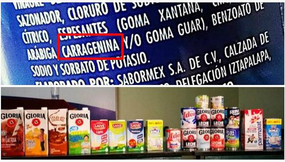 Carragenina: consumo de peligroso ingrediente puede ocasionarnos todos estos males