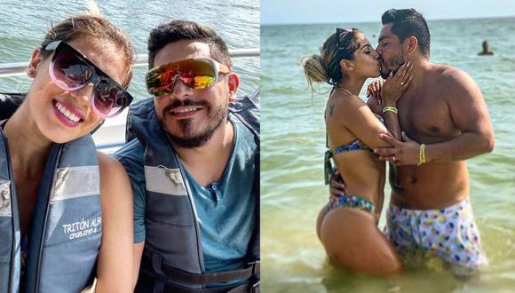 Erick Elera y su esposa disfrutan de una 'escapada' romántica en Colombia. (Foto: Composición Instagram)