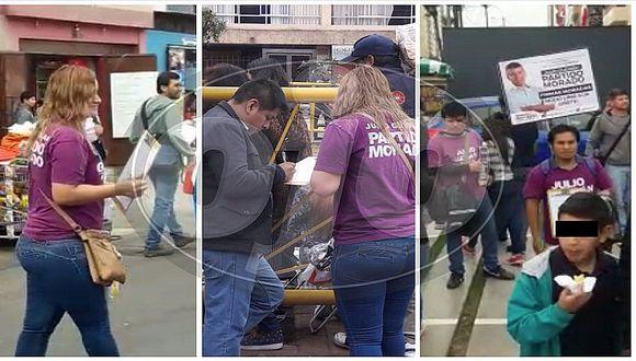 Fiestas Patrias: recolectan firmas en Parada Militar para inscribir partido de Julio Guzmán