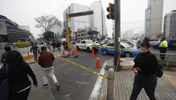 Hernesto Contreras perdió la vida tras ser atropellado por un bus de transporte público, en Miraflores. (Foto: Diana Marcelo/ @photo.gec)