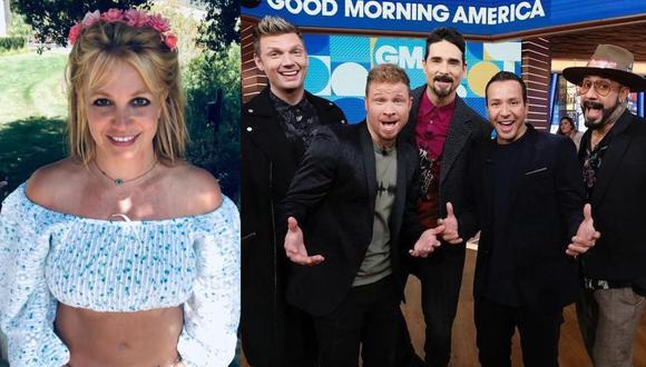 """Britney Spears y Backstreet Boys cumplen el sueño de sus fans y estrenan """"Matches"""", su primera colaboración. (Foto: @britneyspears/@backstreetboys)"""