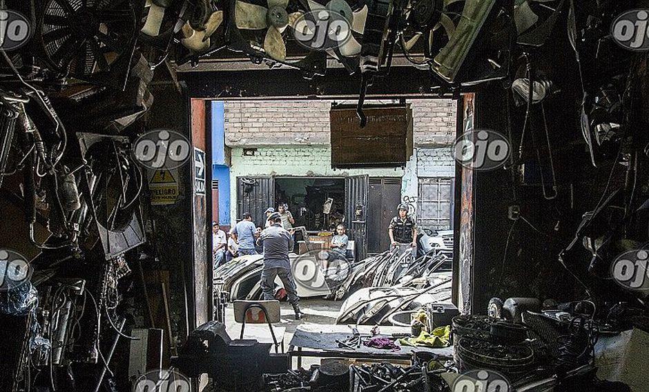 Mercado San Jacinto:  incautan esta alucinante cantidad de autopartes robadas en operativo