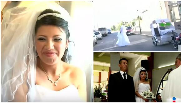 YouTube: ¡Novia en apuros! Mira lo que hizo para llegar a su matrimonio (VIDEO)