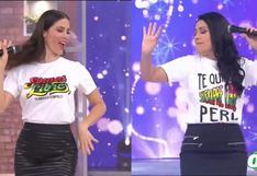 Maju Mantilla y Tula Rodríguez lucen polos con contundente mensaje a dos semanas de las Elecciones 2021