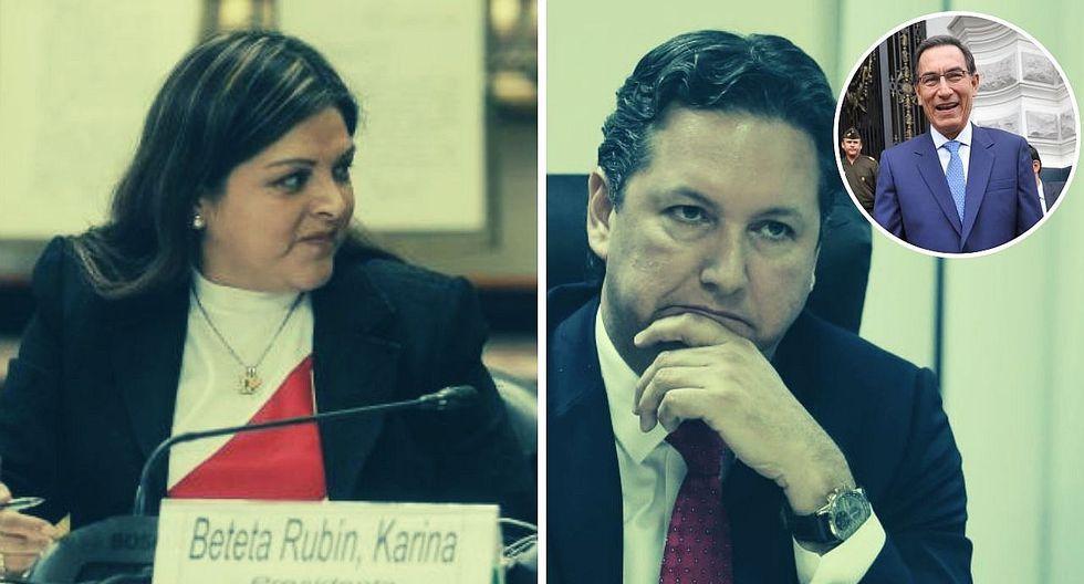 """Karina Beteta enfrenta Salaverry: """"Antes era parte de la cúpula y ahora es dama de compañía de Vizcarra"""""""
