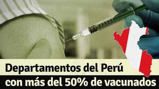 En estos departamentos del Perú ya han vacunado a más del 50% de su población objetiva