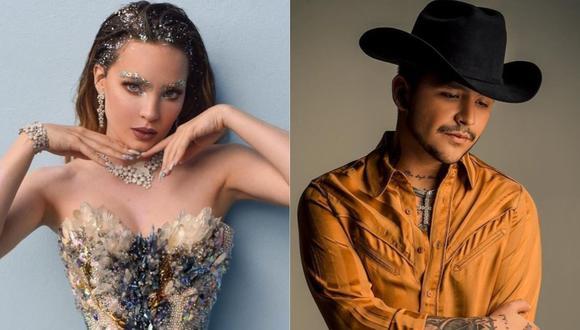 """Belinda y Christian Nodal formalizaron su relación sentimental durante su participación en """"La Voz"""" México. (Foto: @belindapop/@nodal)"""