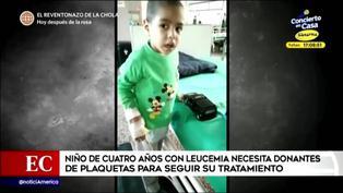 Menor de cuatro años con leucemia necesita donantes de plaquetas para continuar con su tratamiento