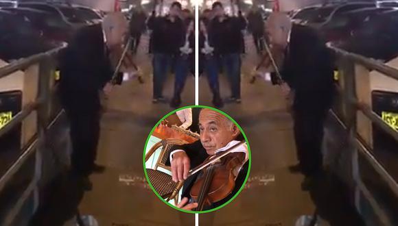 Lujoso restaurante contrata a abuelito que tocaba violín en la calle (VÍDEO)