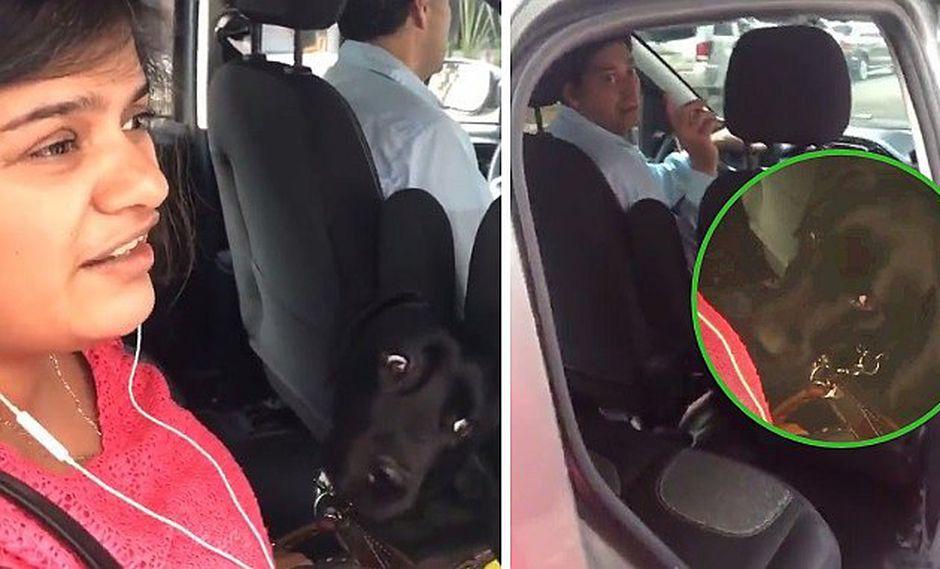 Chofer de Uber se niega a llevar a mujer ciega con su perro guía (VIDEO)