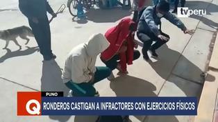 Puno: Ronderos castigan con ejercicios físicos a jóvenes infractores