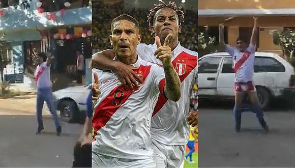 Hincha peruano celebra el gol de Paolo Guerrero con peculiar reacción │VÍDEO