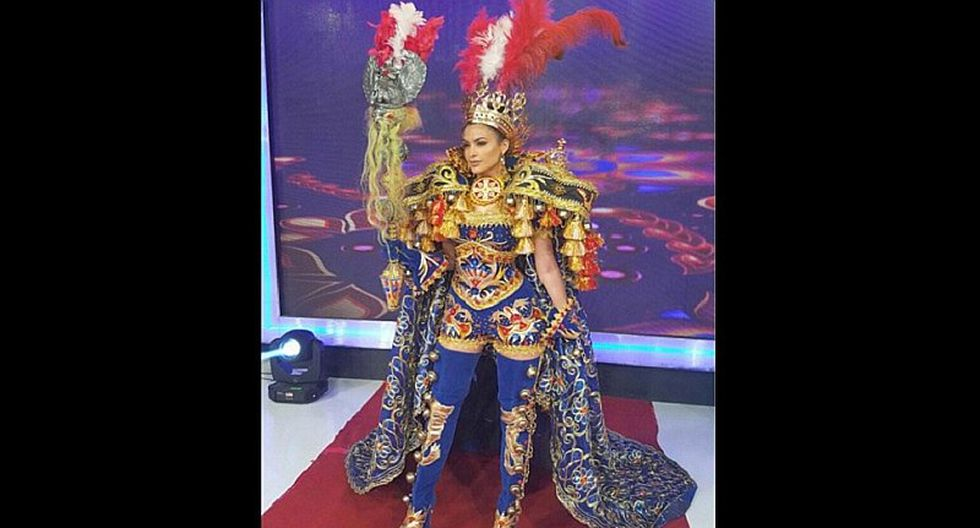 Milett Figueroa luce este traje típico y ¿todavía sueña con ser Miss Perú?