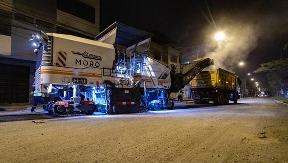 San Juan de Lurigancho: Las obras se llevan a cabo de 10 p.m. a 5 a.m., a fin de evitar la restricción del tránsito en horas de gran fluidez vehicular. (Foto: Municipalidad de Lima)