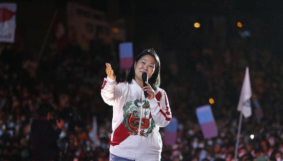 La candidata presidencial de Fuerza Popular, Keiko Fujimori, culminó su campaña electoral con miras a segunda vuelta en el distrito de Villa El Salvador | Foto: Hugo Pérez / @photo.gec