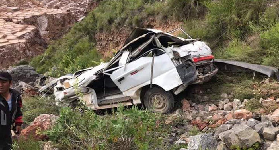 El accidente ocurrió en el sector de Salineras en el distrito de Maras, provincia de Urubamba, región de Cusco. (Foto: Facebook/SR Dongo Noticias)