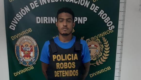El venezolano Carlos Guzmán García (24), alías 'Caraqueño', fue capturado por agentes antirrobos de la Dirincri.