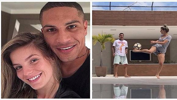 ¡Paolo Guerrero y Thaisa Leal son puro amor! Brasilera demuestra sus dotes con la pelota (VIDEO)