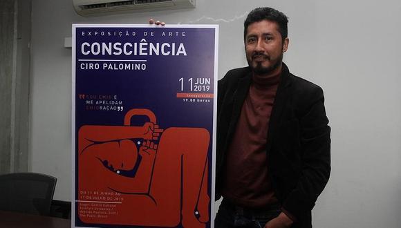 """Ilustrador peruano Iván Palomino lleva su muestra """"Consciencia"""" a Brasil"""